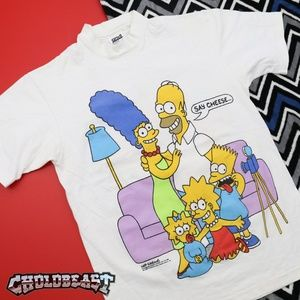 Vintage 1980s Simpsons Bart Homer TV T Shirt S VTG